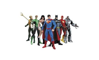 "7 in1 DC Justice League 7"" Action Figure Toy Superman/Batman/Flash/Wonder Woman"