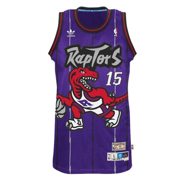 fa62a680bbd Vince Carter Toronto Raptors Purple Throwback Swingman Jersey | Groupon