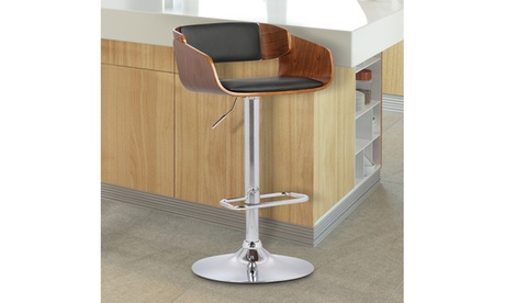 Jenny Adjustable Faux Leather and Chrome Swivel Barstool 0868e791-81ec-4b99-8b38-004e01ce2d13