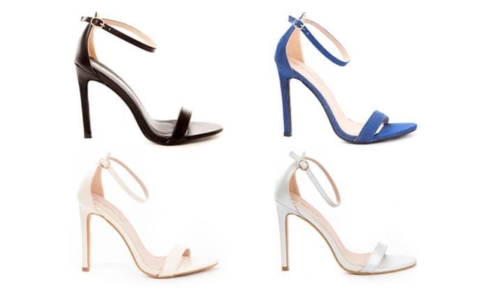 Women's Open Toe Ankle Strap Platform Casual Stiletto Pump Sandals