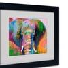 Richard Wallich 'Elephant 2' Matted Black Framed Art