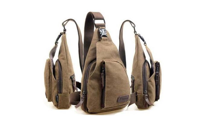 Men's Shoulde Sport Canvas Messenger Bag in 3 Colors