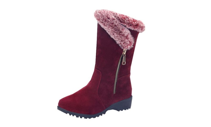 Women's Casual Zip Simple Snow Boots