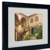 Rio 'Tuscany Courtyard' Matted Black Framed Art