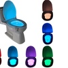 8 Colors LED sensor motion Activated toilet night light