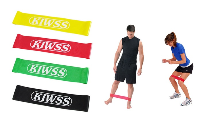 Power Heavy Duty Resistance Loop Bands for Fitness (set of 4)