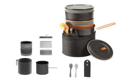 10 Piece Compact Design Easy Storing Camp Cook Set