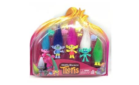5pcs/box DreamWorks Trolls Movie PVC Action Figures Trolls Doll Toy 07d00b5e-4cd3-4dd3-b032-7021a72b21fc