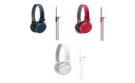iLuv ROCKefeller premium over ear HP MFI 3 Colors (Blue, Red or White) 47607a2e-dd71-4ecc-a857-e23a62c01996