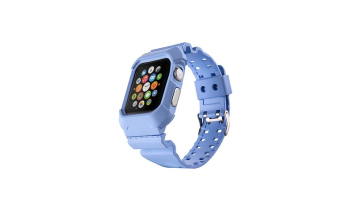 Cover Apple Watch Iwatch 42mm Rubber Rugged Band Strap Bracelet Case