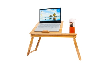 Bamboo Foldable Breakfast Serving Bed Tray