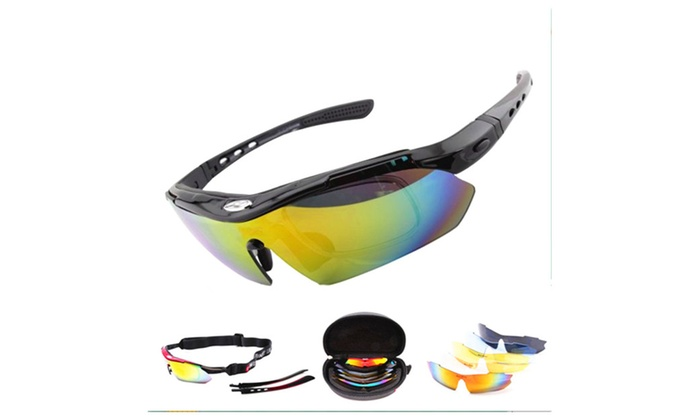 Men's Revo Polarized Sports Sunglasses with 5 exchangeable Lens