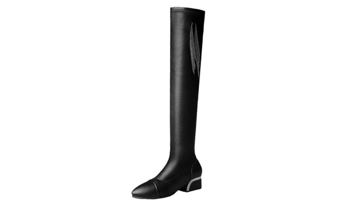 Women's Solid Casual Fashion Boots