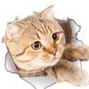 3D Cats Art Hole View Vinyl Wall Decal