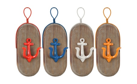 Metal Oval Wall Hook with 1 Hanger, Wood Board, 1 Anchor Design Hook e79ee6dd-6360-450f-849d-1f0ded721fb6