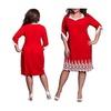 Plus Size Dresses Summer Women Lace Patchwork Elegant Party