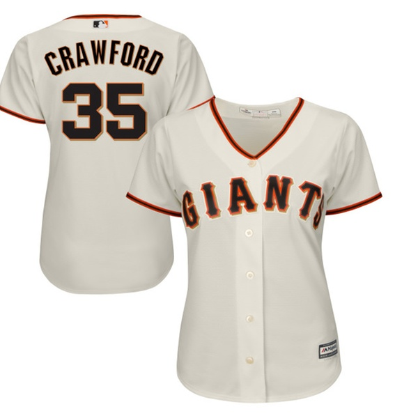 sneakers for cheap 17177 1deb3 Womens Giants Brandon Crawford Cream Alternate Cool Base Player Jersey