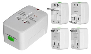 4-in-1 International AC Plug Travel Adapter