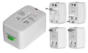 4-in-1 International AC Plug Travel Adapter