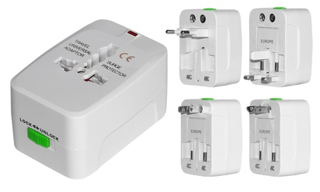 4-in-1 International AC Plug Travel Adapter photo