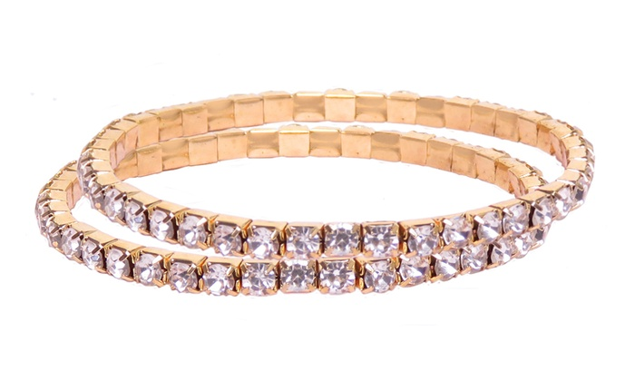 1bf21386ad952 Up To 89% Off on Rhinestone Crystal Tennis Str... | Groupon Goods