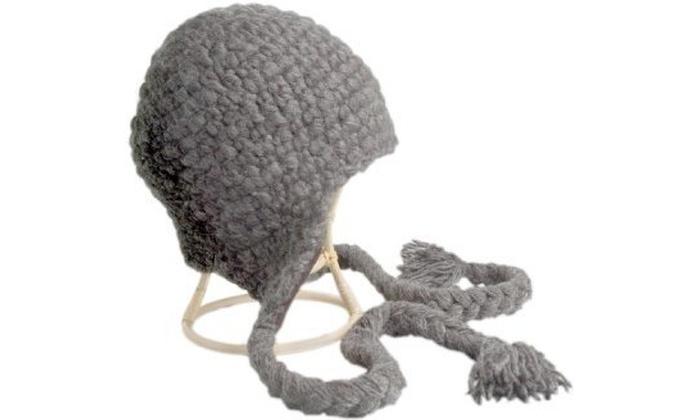 8151b3ba7ad Nirvanna Designs CH306 Long Tassel Earflap Hat - Grey Multi-color Label  100% wool original.jpg