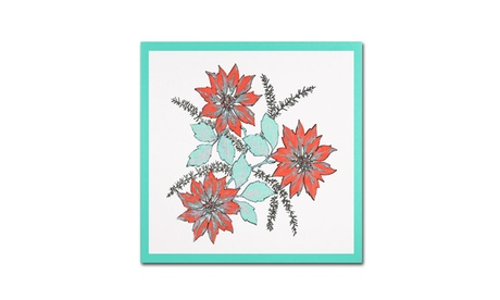 Patty Tuggle 'Modern Poinsettia' Canvas Art 744f81d2-629b-43cc-befc-c997effe1bcb