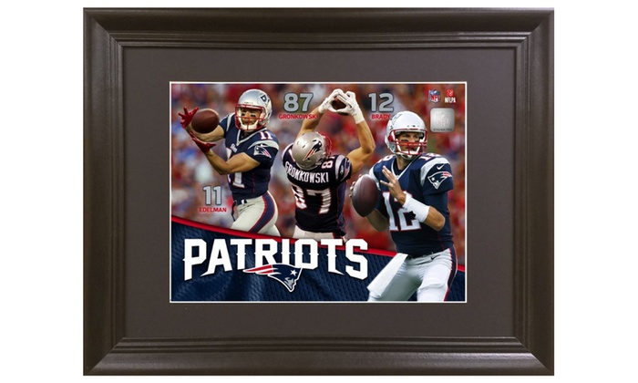 39cd2d322e8 New England Patriots 3D Picture of Tom Brady, Edelman, and Gronk ...