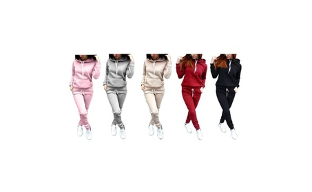 Women's 2 Piece Tracksuit Fleece Hoodie and Pants Sports Sets 036582c3-12ff-4bf8-b300-d43e7b4de9e5
