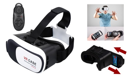 3D Virtual Reality Glasses Adjustable VR Headset Handsfree With Remote a51d54ad-62c6-4bd2-9f4c-c19aa670130e