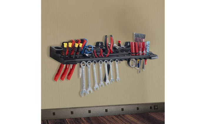 Multitool Organizer for Hand, Automotive, and Electric Tools, Wall Mounted Shelf