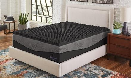 """Comfort Essentials 2.5"""" 5-Zone Ebonite Memory Foam Topper"""