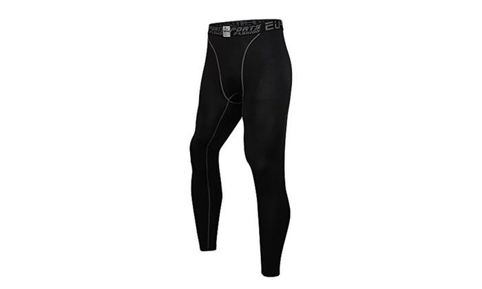 Men's Compression Tight Pants Base Layer Running Leggings