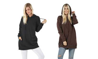 80f4fca7ddc Shop Groupon Women s Oversized Hoodie Sweatshirts (2-Pack). Plus Sizes  Available.