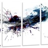 Dark Blue Multicolor Stain - Abstract Watercolor Metal Wall Art