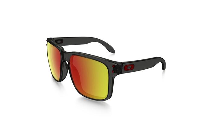 Oakley 56mm Holbrook Sunglasses (Gray/Ruby Iridium)