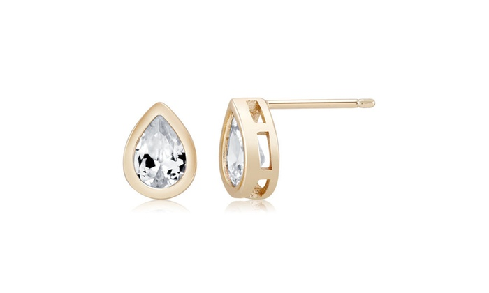 290f86192 Cubic Zirconia Pear Shaped Earrings | Groupon