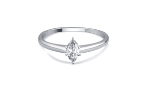 1/3 CTTW Marquise Diamond Solitaire Ring in 14K Gold by Brilliant Diamond
