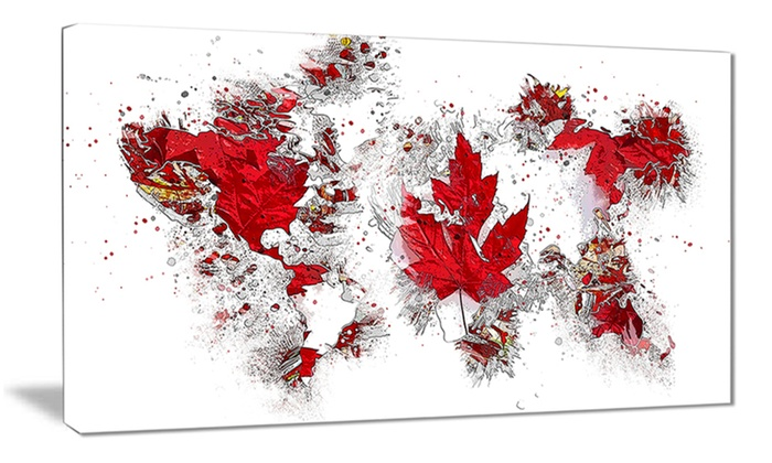 Canadian Flag Flag Canvas Art Print Groupon
