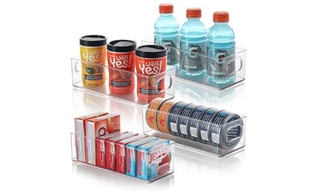 Storagebud Plastic Food Storage Bins - Food & Kitchen Containers - 4 Pack