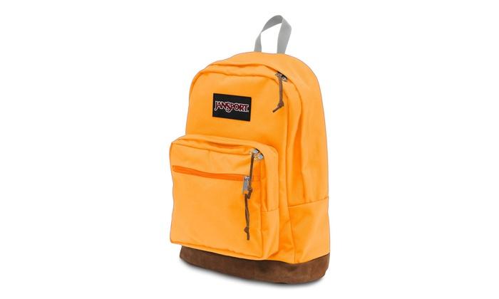 buy online 2178b a4505 JanSport Right Pack Backpack - Orange   Gold   Groupon