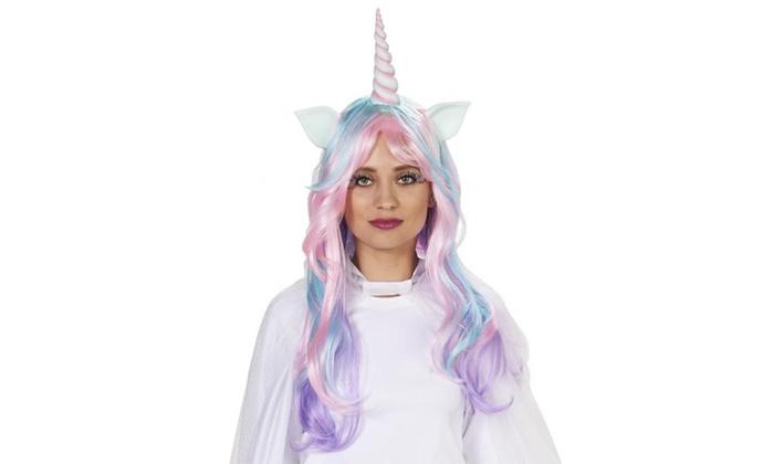 Soft-Hued Unicorn Adult Wig