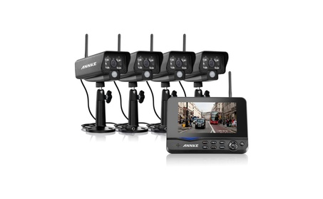 """ANNKE Wireless 4CH DVR 4 Security Camera System with 7"""" LED Monitor ca8ec77d-e9bb-4346-829b-23820f3ee6ea"""