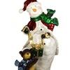 "48"" Commercial Size Snowman w/ Bear Xmas Display Decoration"