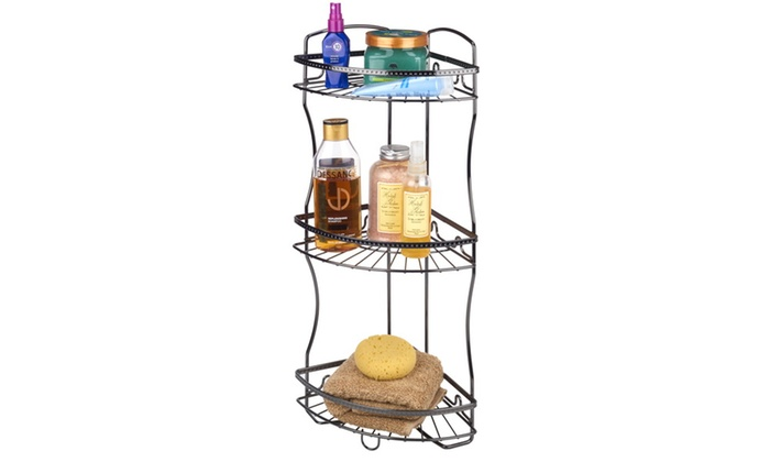 Bath Bliss Hammered Wire Shower Caddy in Glossy Chrome | Groupon