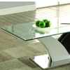 Furniture of America Gutra Glass Coffee Table, White and Dark Gray