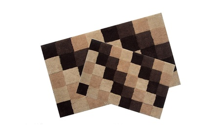 Better Trends 2PC2440BR Tiles Bathrug, Brown - 24 x 40 in. 2 Pieces 1ee26747-c358-46f3-b6e6-1d959c19db8b