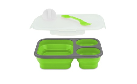Smart Planet EC-34 Large 3-Compartment Eco Silicone Collapsible Meak photo