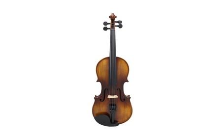 JNTworld 4/4 Elegant Matte Spruce Solid Wood Violin - Coffee 3270f507-5c3d-4889-b6dd-52912b844f58