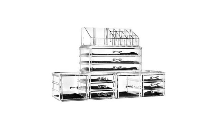 9ded12b73392 Felicite Home Acrylic Jewelry and Cosmetic Storage Makeup Organizer